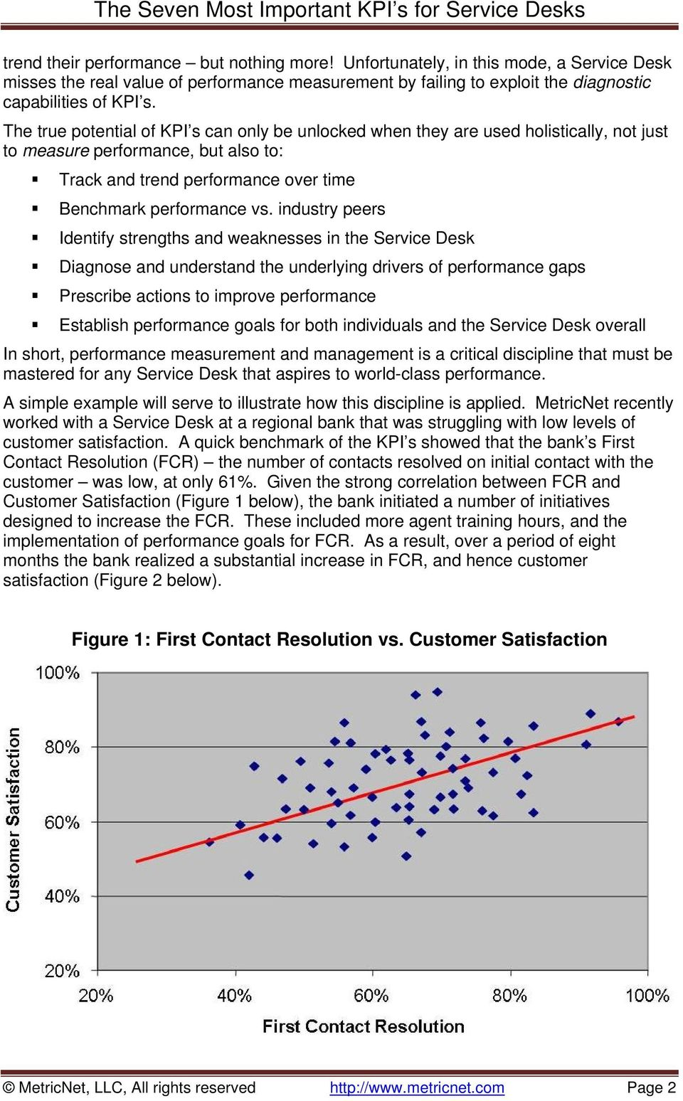 industry peers Identify strengths and weaknesses in the Service Desk Diagnose and understand the underlying drivers of performance gaps Prescribe actions to improve performance Establish performance