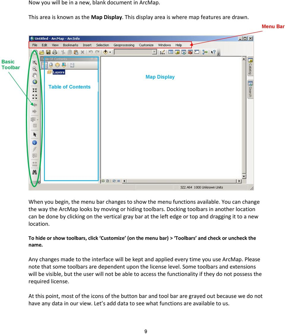 Docking toolbars in another location can be done by clicking on the vertical gray bar at the left edge or top and dragging it to a new location.
