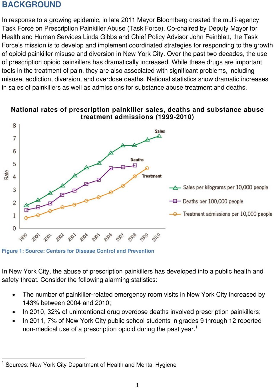 responding to the growth of opioid painkiller misuse and diversion in New York City. Over the past two decades, the use of prescription opioid painkillers has dramatically increased.