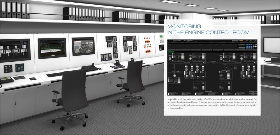For example, constant monitoring of the engine rooms and all of the besecke systems
