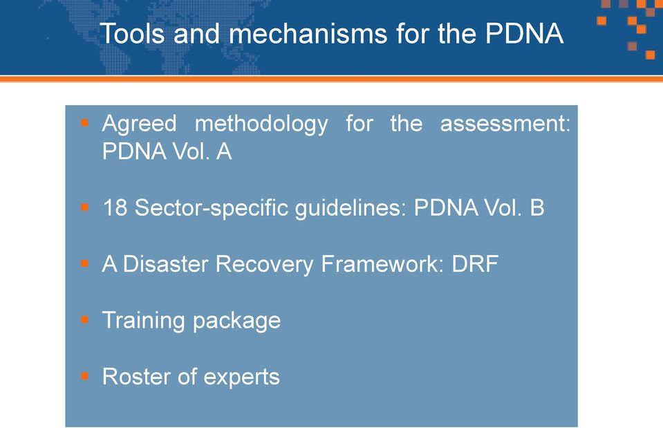 A 18 Sector-specific guidelines: PDNA Vol.