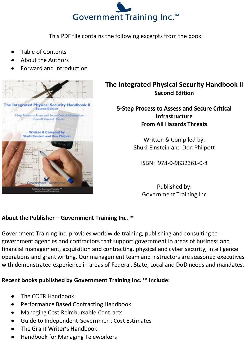 Publisher Government Training Inc.
