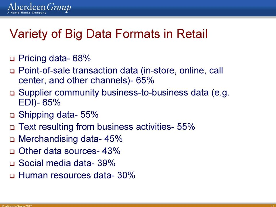 business-to-business data (e.g.
