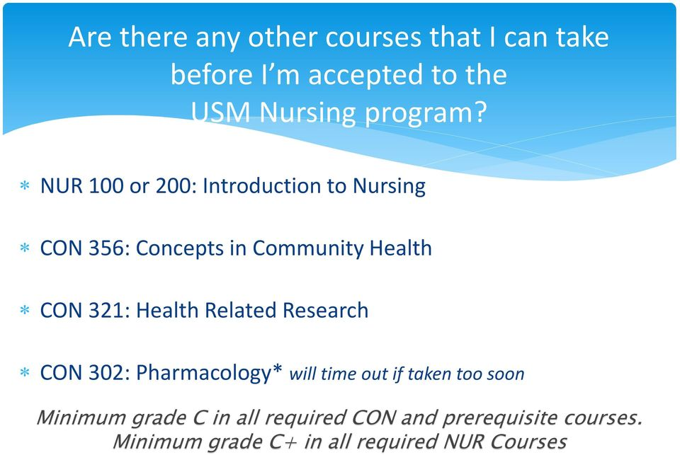 Health Related Research CON 302: Pharmacology* will time out if taken too soon Minimum