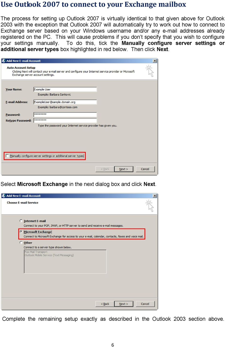 This will cause problems if you don t specify that you wish to configure your settings manually.