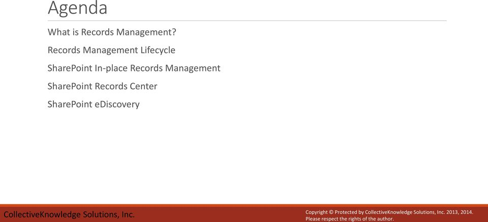 In-place Records Management SharePoint Records