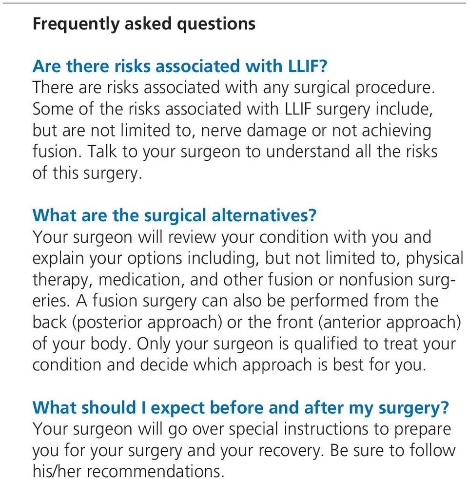 What are the surgical alternatives?