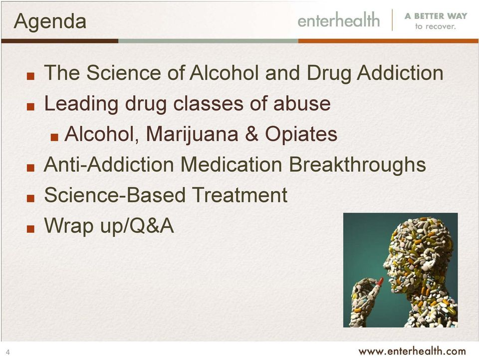 Alcohol, Marijuana & Opiates Anti-Addiction