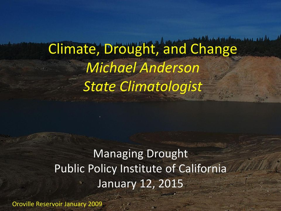 Drought Public Policy Institute of