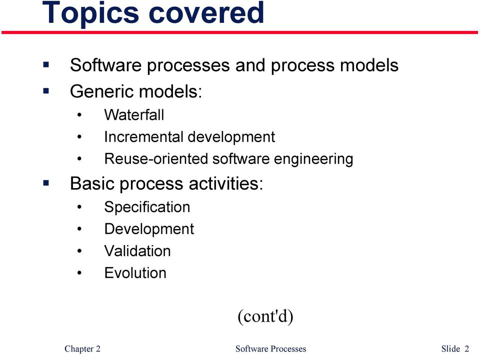 software engineering Basic process activities: Specification