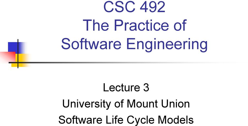 Lecture 3 University of