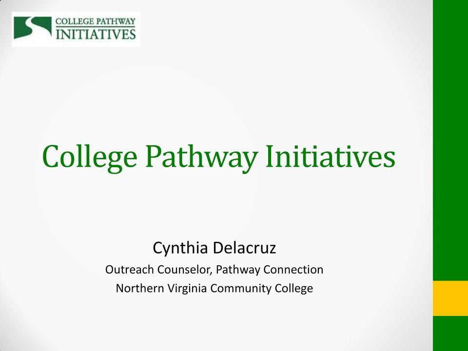 Counselor, Pathway Connection