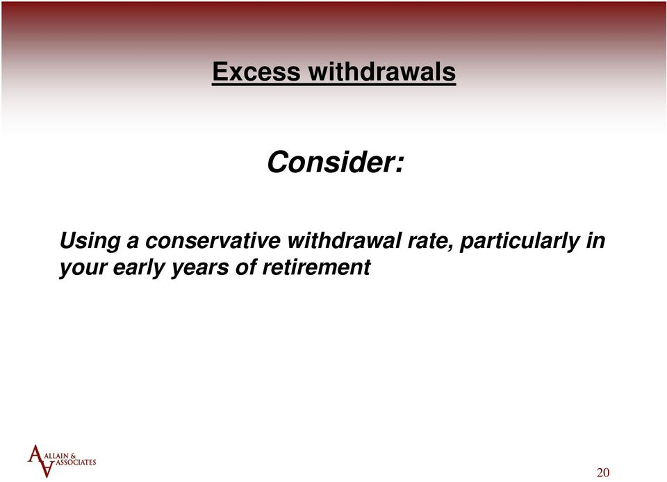 withdrawal rate,