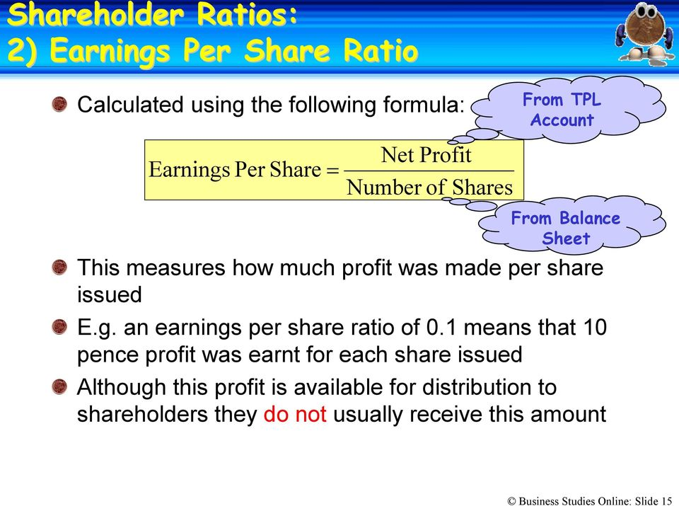1 means that 10 pence profit was earnt for each share issued Although this profit is available for