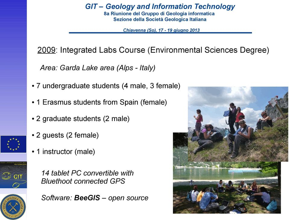 Spain (female) 2 graduate students (2 male) 2 guests (2 female) 1 instructor