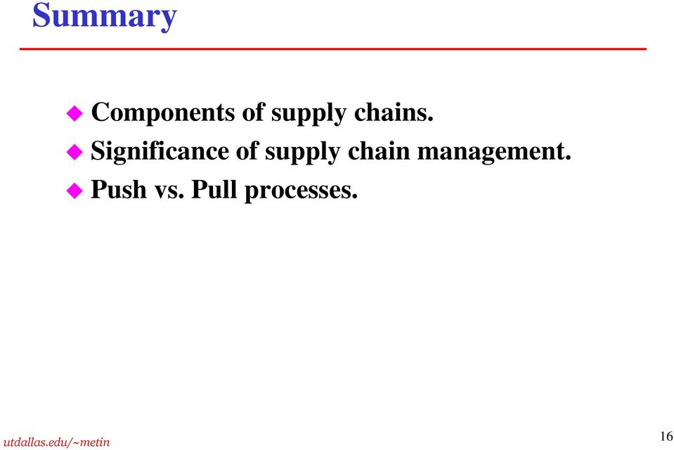 Significance of supply