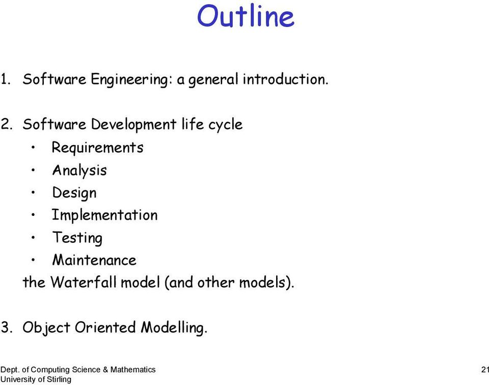 Software Development life cycle Analysis Design