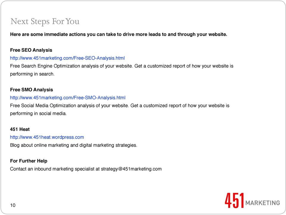 Free SMO Analysis http://www.451marketing.com/free-smo-analysis.html Free Social Media Optimization analysis of your website.