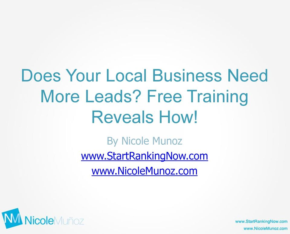 Free Training Reveals How!