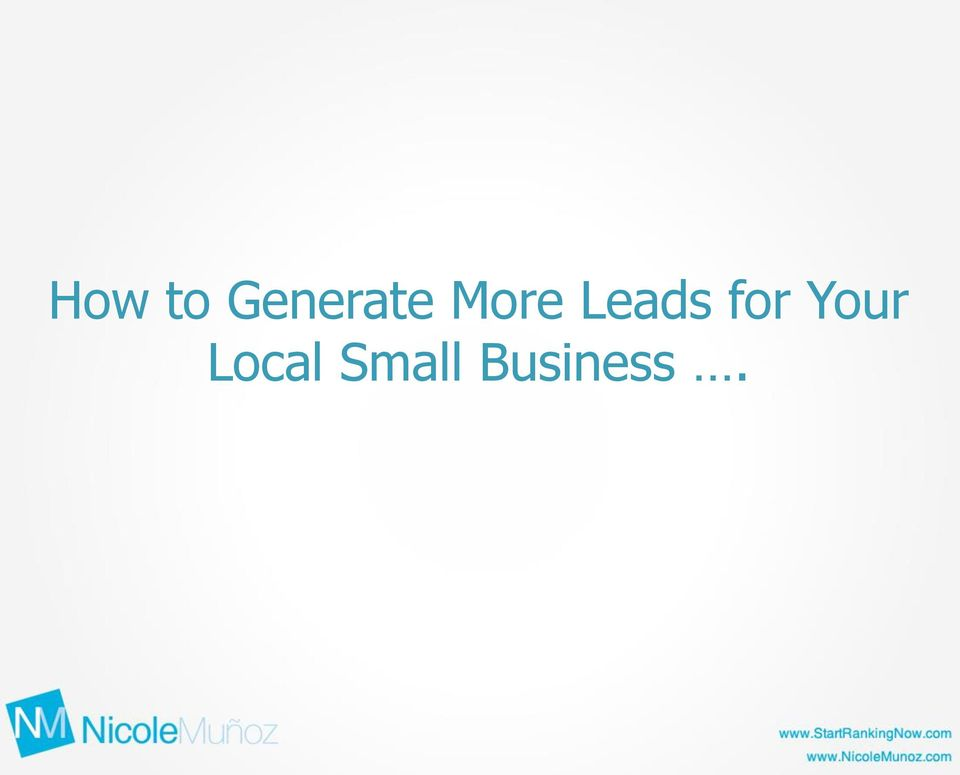 Leads for Your