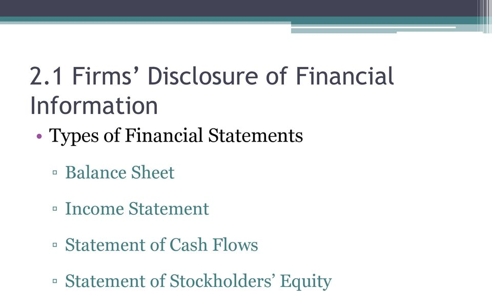 Statements Balance Sheet Income