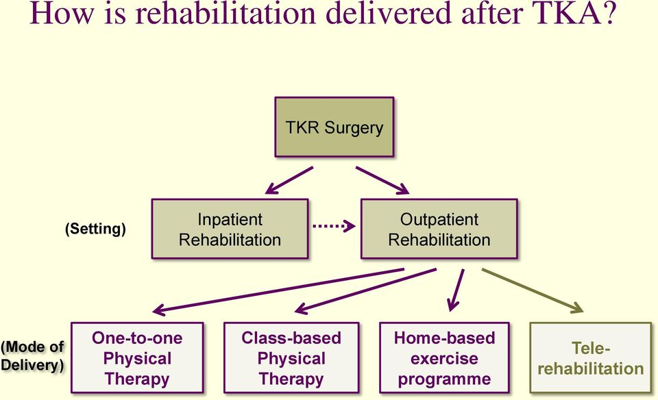 Rehabilitation (Mode of Delivery) One-to-one Physical