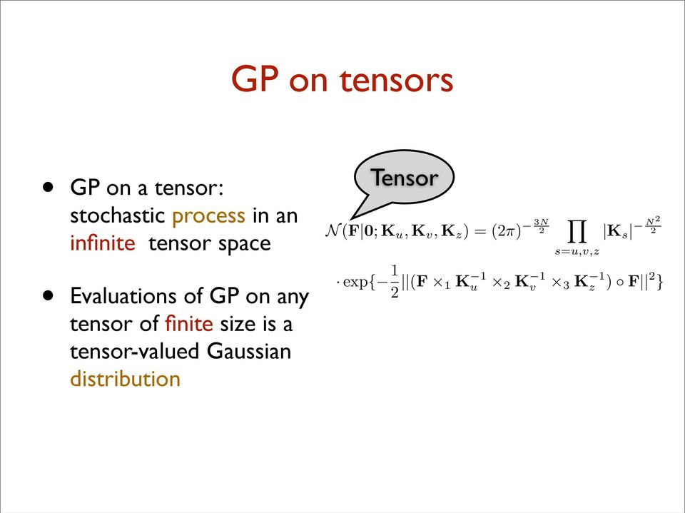 N2 2 Evaluations of GP on any tensor of finite size is a