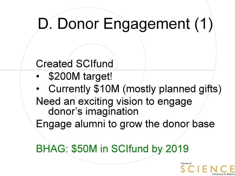 exciting vision to engage donor s imagination Engage