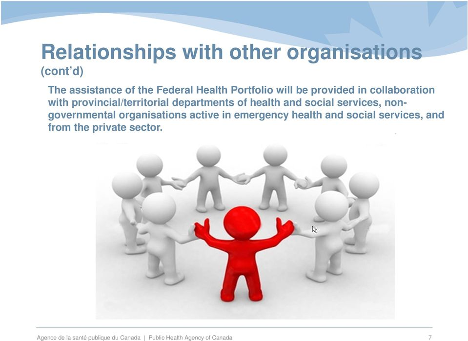 services, nongovernmental organisations active in emergency health and social services, and