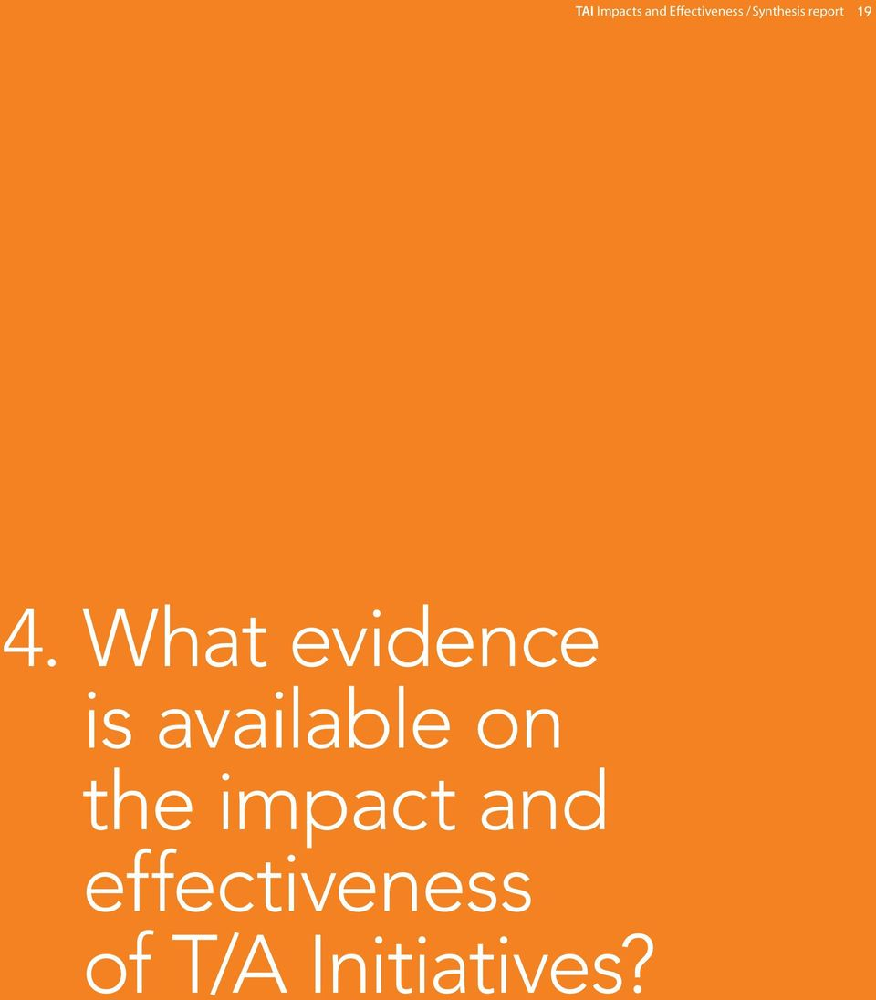 What evidence is available on