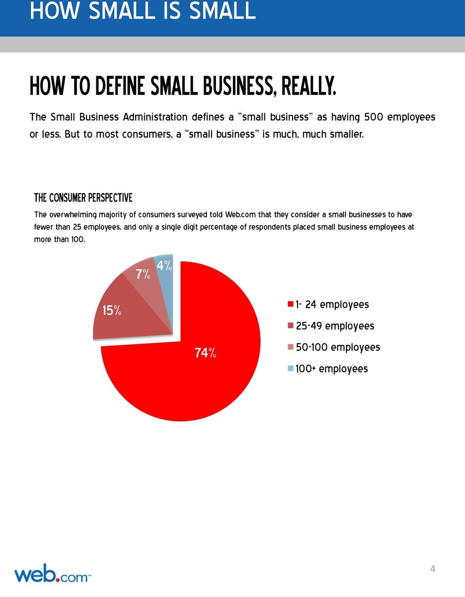 But to most consumers, a small business is much, much smaller.