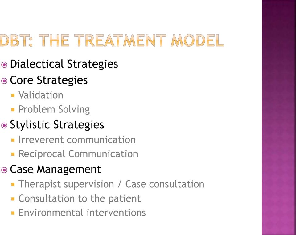 Reciprocal Communication Case Management Therapist supervision