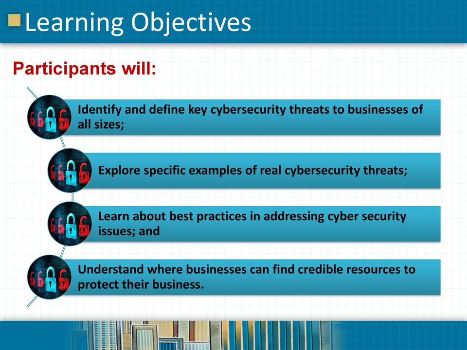 cybersecurity threats; Learn about best practices in addressing cyber security