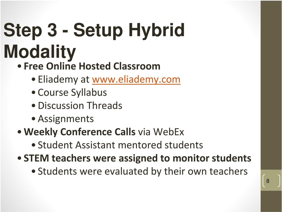 com Course Syllabus Discussion Threads Assignments Weekly Conference