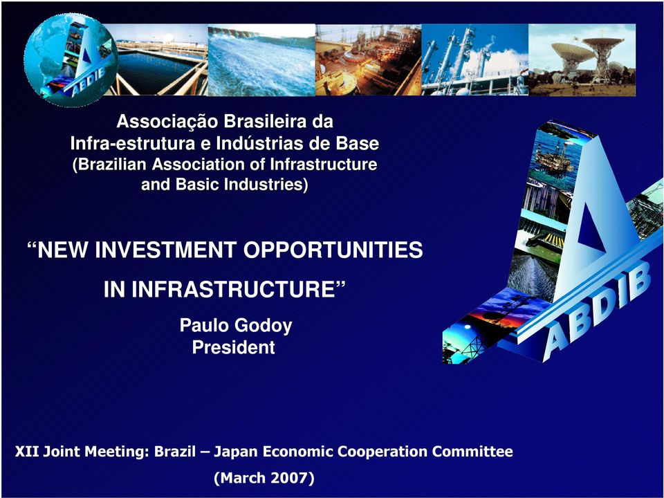 INVESTMENT OPPORTUNITIES IN INFRASTRUCTURE Paulo Godoy President