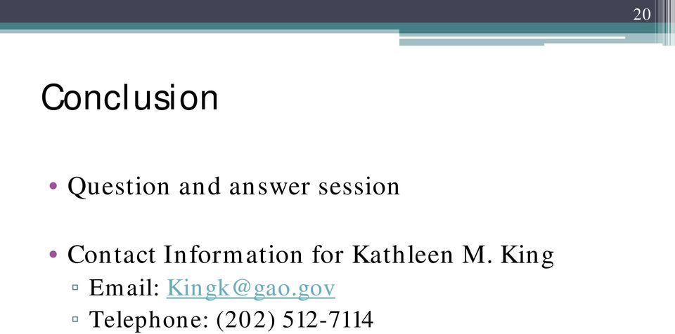 Information for Kathleen M.