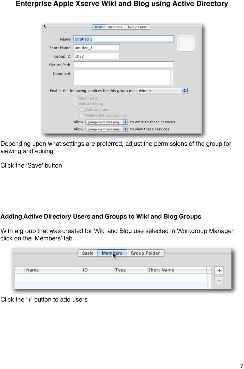 Adding Active Directory Users and Groups to Wiki and Blog Groups With a group that