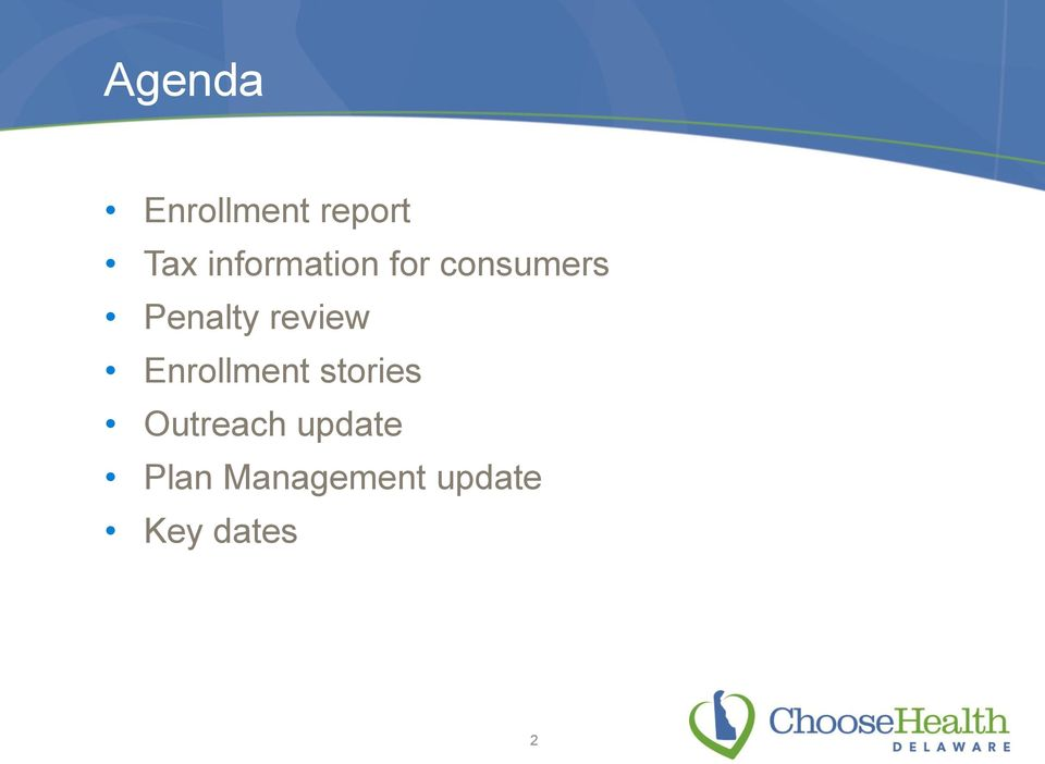 review Enrollment stories Outreach