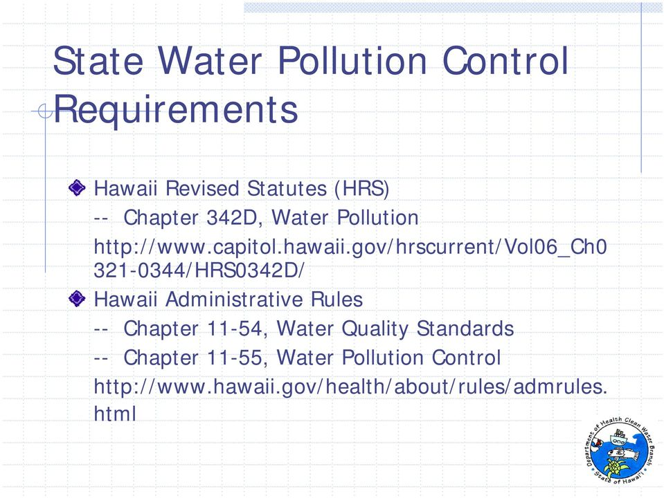 gov/hrscurrent/vol06_ch0 321-0344/HRS0342D/ Hawaii Administrative Rules -- Chapter