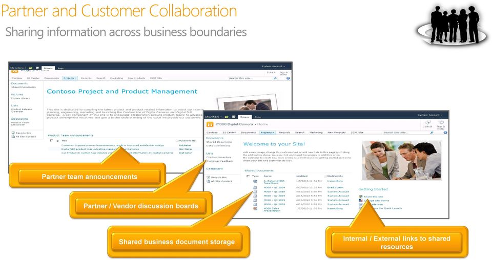 Partner / Vendor discussion boards Shared business