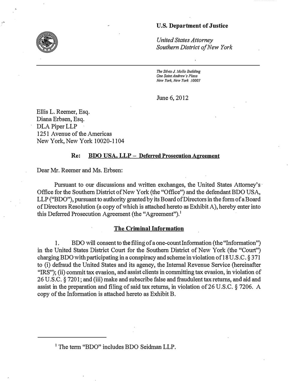 United States Attorney Southern District of New York - PDF