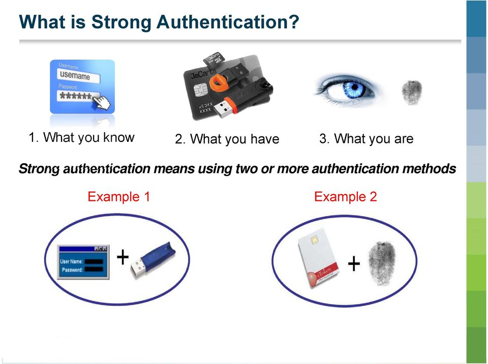 What you are Strong authentication means