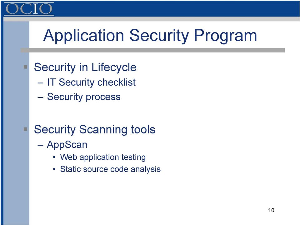 process Security Scanning tools AppScan Web