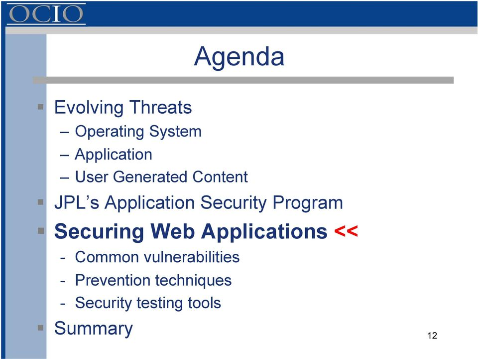 Program Securing Web Applications << - Common