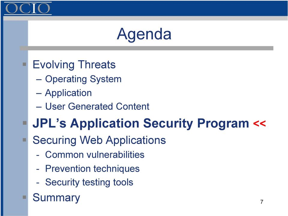 Program << Securing Web Applications - Common