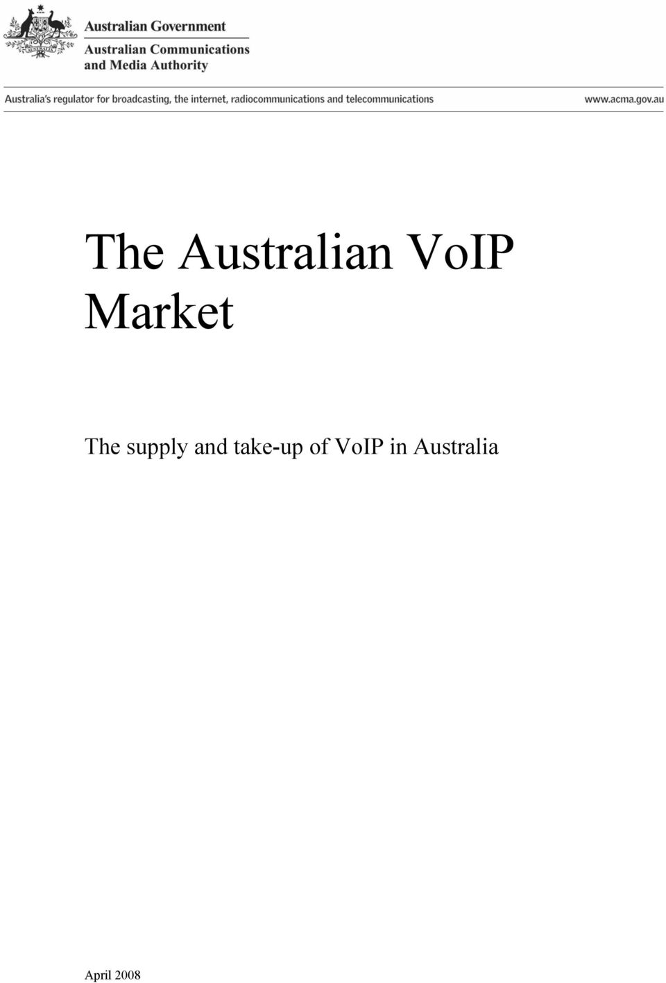 and take-up of VoIP