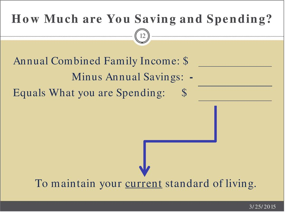 Annual Savings: - Equals What you are