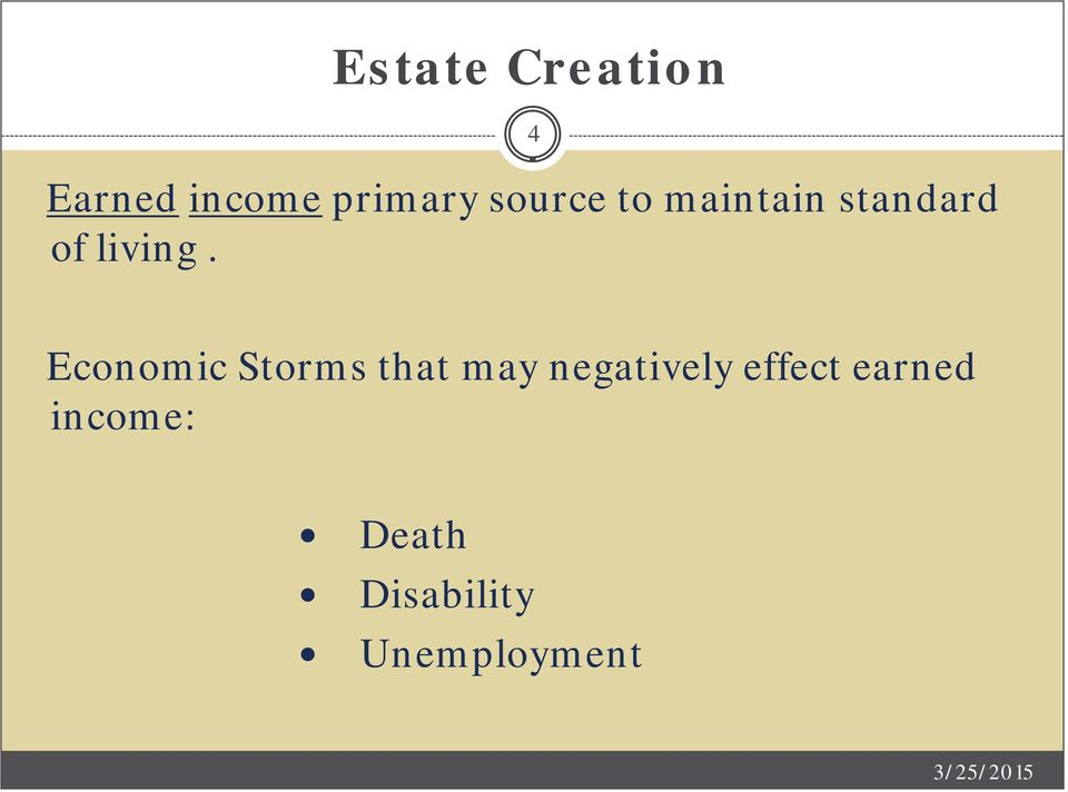4 Economic Storms that may negatively
