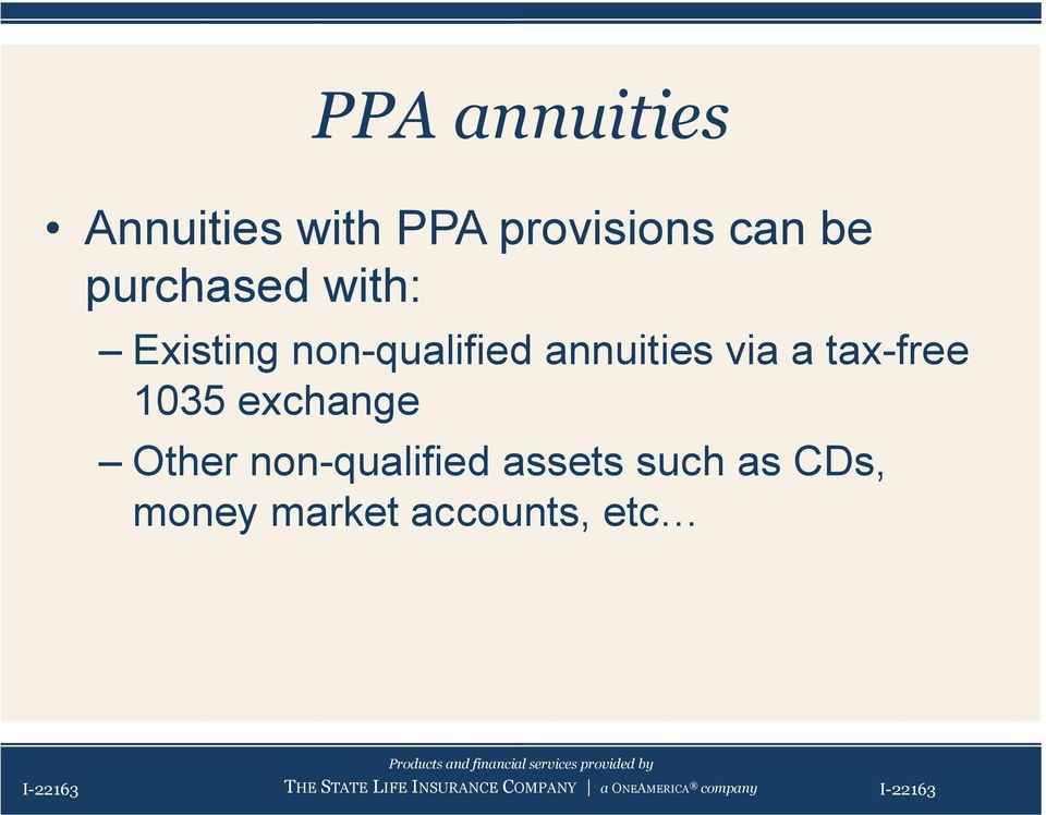 exchange Other non-qualified assets such as CDs, money market