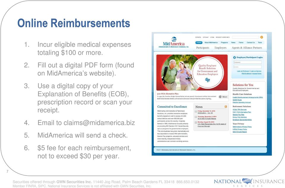 Use a digital copy of your Explanation of Benefits (EOB), prescription record or scan your